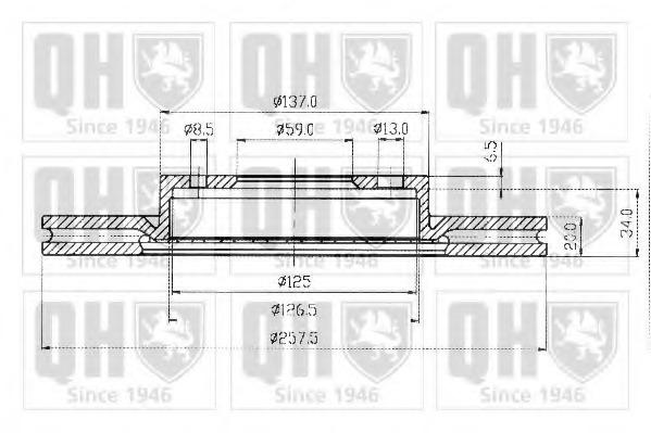 BDC3593 QUINTON HAZELL Диск тормозной вентилируемый