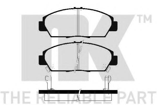 229979 NK Комплект тормозных колодок, дисковый тормоз