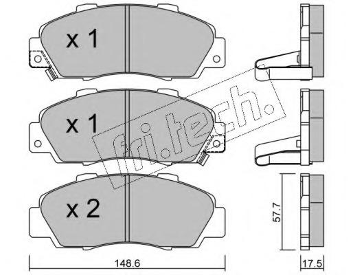 3070 FRI.TECH. Колодки тормозные дисковые передние