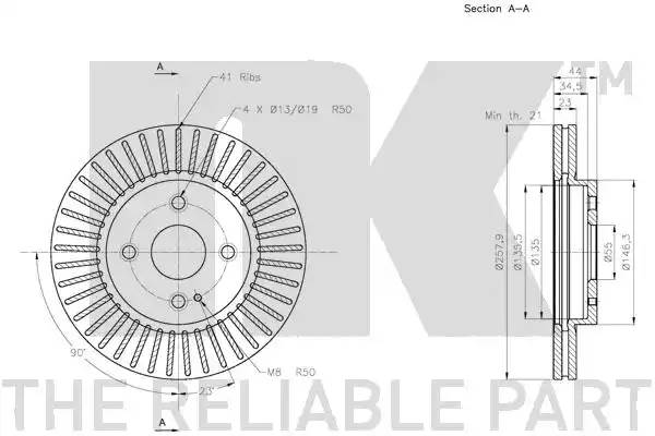 203267 NK Диск тормозной пер. вент.NK