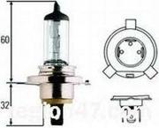 8GJ002525531 HELLA Лампа галогеновая Hella H4 P43t 12V 60/55W 1 шт.