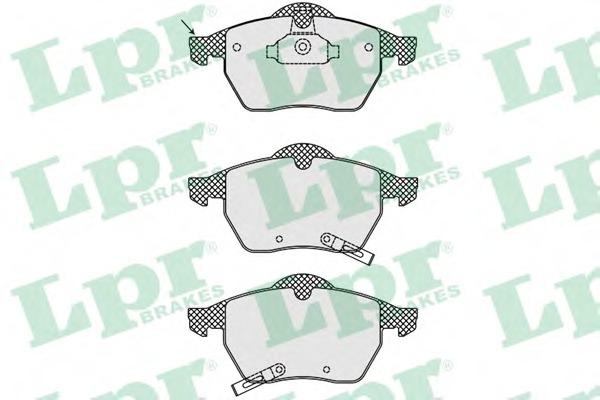 Комплект тормозных колодок, дисковый тормоз LPR 05P689