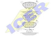 181349 ICER Комплект тормозных колодок, дисковый тормоз