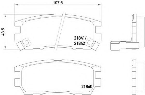 2184002 TEXTAR Комплект тормозных колодок, дисковый тормоз