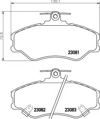 8DB355016641 HELLA Колодки тормозные дисковые