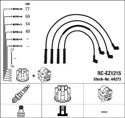 44273 NGK Комплект проводов зажигания