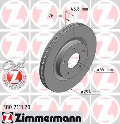 380211120 ZIMMERMANN Тормозной диск