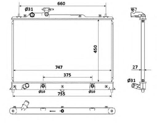 53904 NRF Радиатор двигателя