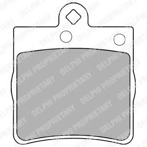 LP1403 DELPHI Комплект тормозных колодок, дисковый тормоз