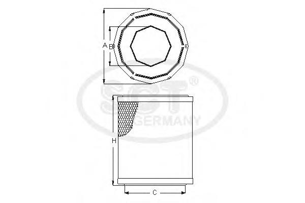 SB674 SCT Воздушный фильтр
