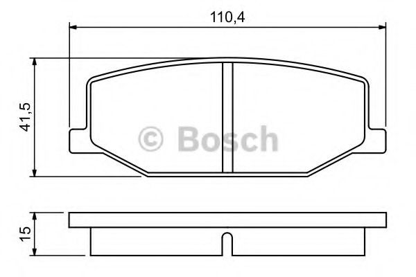 0986460935 BOSCH Комплект тормозных колодок, дисковый тормоз