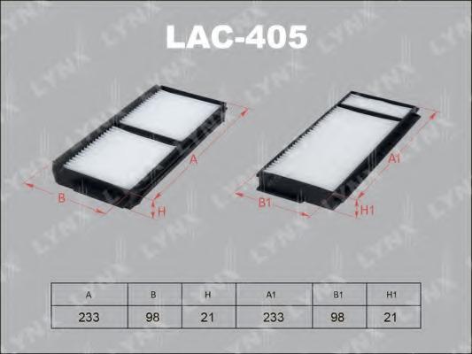 LAC405 LYNX Фильтр, воздух во внутренном пространстве