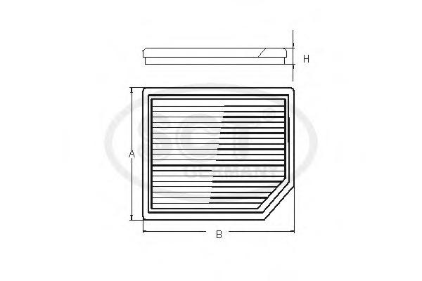 SAK166 SCT Салонный фильтр