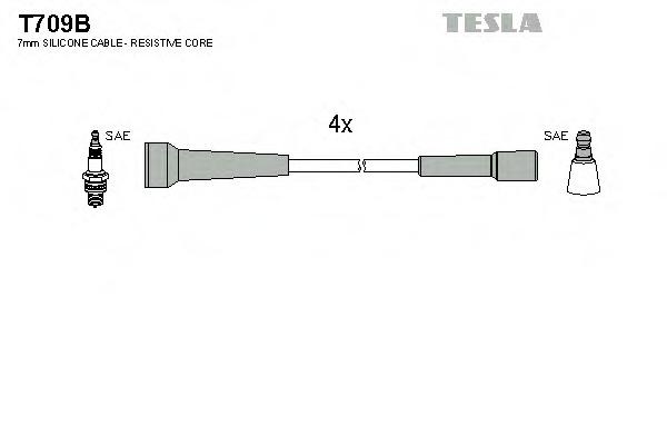 Комплект проводов зажигания TESLA T709B