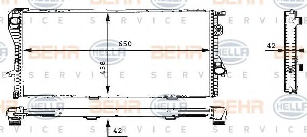 8MK376710301 BEHR-HELLA Радиатор, охлаждение двигателя
