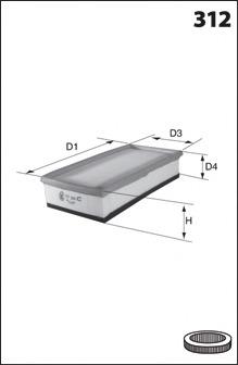 Воздушный фильтр MECAFILTER ELP9343