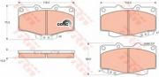 GDB797 TRW Комплект тормозных колодок, дисковый тормоз