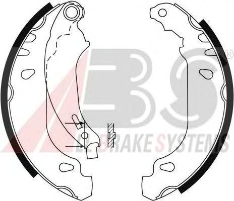9124 ABS Комплект тормозных колодок