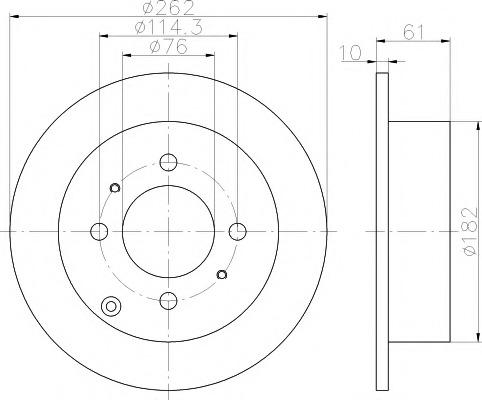 92130900 TEXTAR Диск тормозной TEXTAR
