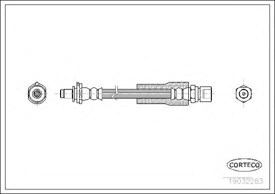 19032283 CORTECO Тормозной шланг