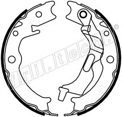 Комплект тормозных колодок, стояночная тормозная система FRI.TECH. 1027007