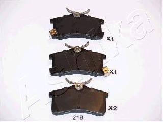 5102219 ASHIKA Комплект тормозных колодок, дисковый тормоз