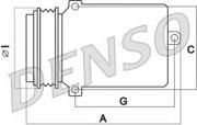 DCP05014 DENSO Компрессор кондиционера