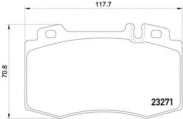 2327181 TEXTAR Комплект тормозных колодок, дисковый тормоз