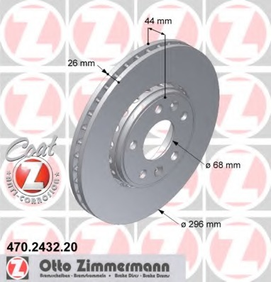470243220 ZIMMERMANN Тормозной диск