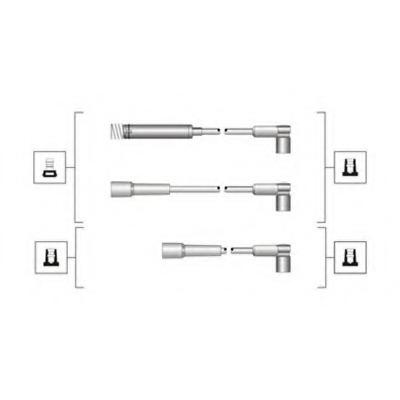 941319170072 MAGNETI MARELLI Комплект высоковольтных проводов