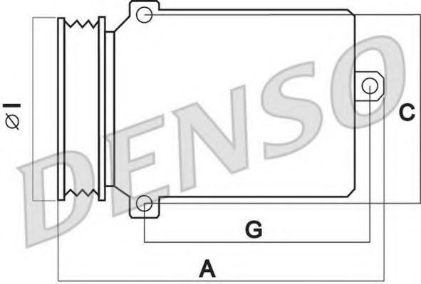 DCP02015 DENSO Компрессор кондиционера