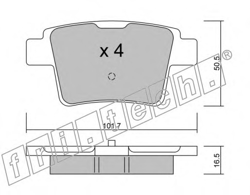 Комплект тормозных колодок, дисковый тормоз FRI.TECH. 6930