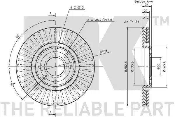 311927 NK Тормозной диск