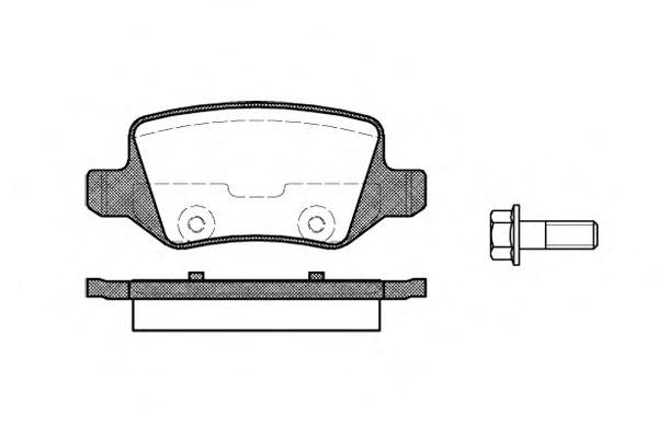 Комплект тормозных колодок, дисковый тормоз ROAD HOUSE 281800