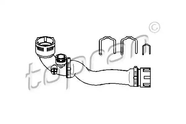 501575 TOPRAN Шланг радиатора