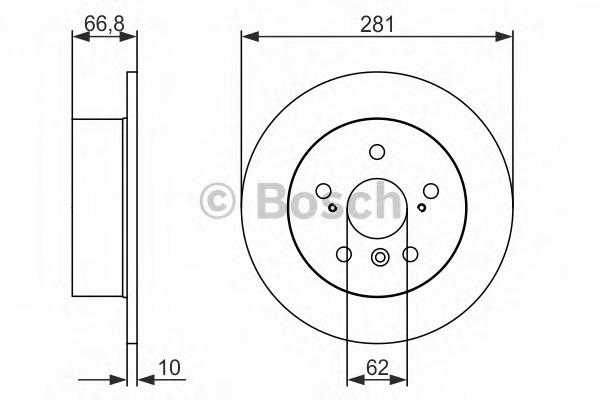 0986479C21 BOSCH Тормозной диск