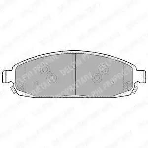 LP1931 DELPHI Комплект тормозных колодок, дисковый тормоз