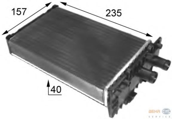 8FH351024431 HELLA Теплообменник, отопление салона