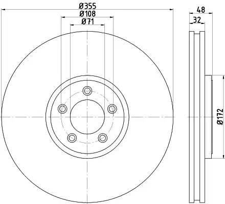 92186305 TEXTAR Диск тормозной