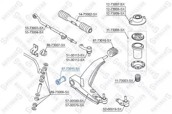 8773011SX STELLOX Подвеска, рычаг независимой подвески колеса