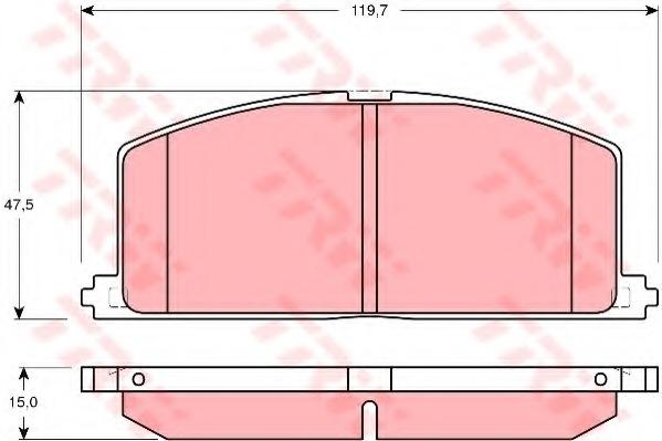 GDB3184 TRW/LUCAS Комплект тормозных колодок, дисковый тормоз