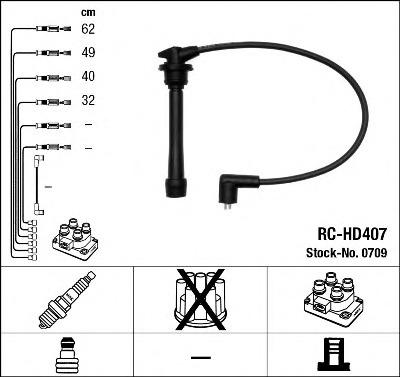 0709 NGK Комплект проводов зажигания