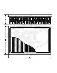 SB634 SCT Воздушный фильтр