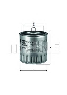 Топливный фильтр MAHLE/KNECHT KC631D