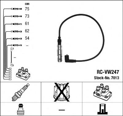7013 NGK Комплект проводов зажигания