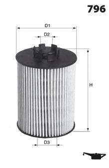 Масляный фильтр MECAFILTER ELH4214