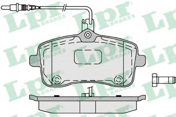 05P1196 LPR Комплект тормозных колодок, дисковый тормоз