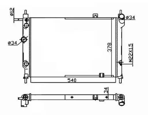 514647 NRF Радиатор, охлаждение двигателя