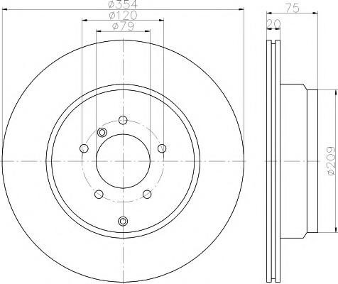 92175503 TEXTAR Диск тормозной LAND ROVER RR 05- задн.вент.(в уп. 1 шт)