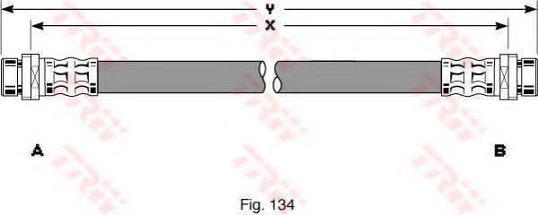 Тормозной шланг TRW/LUCAS PHA293